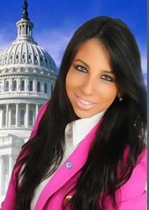 Senaatskandidate in het roze