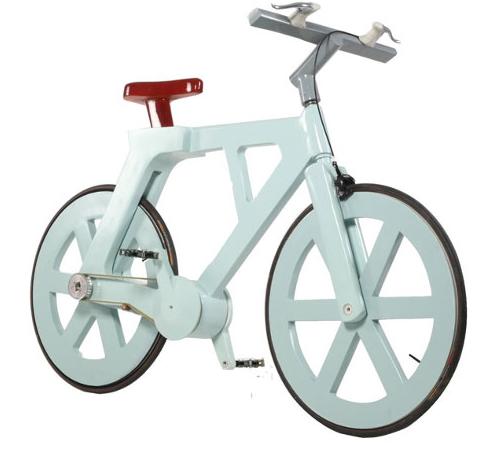 Kartonnen fiets