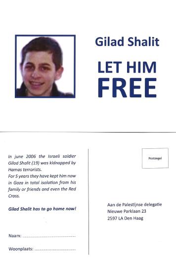 1 miljoen berichten voor Gilad Shalit