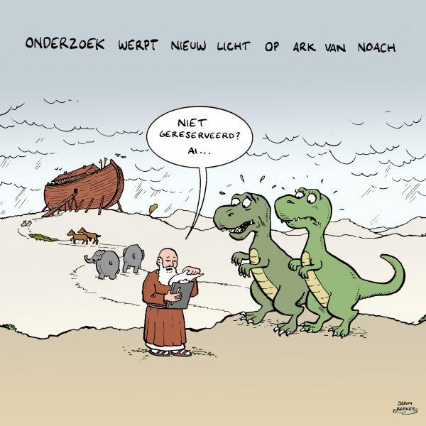 'Ark van Noach was rond'