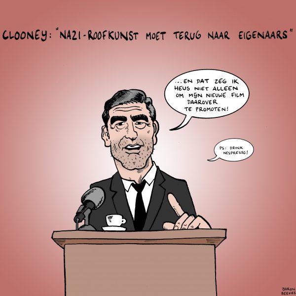 Clooney wil roofkunst terug
