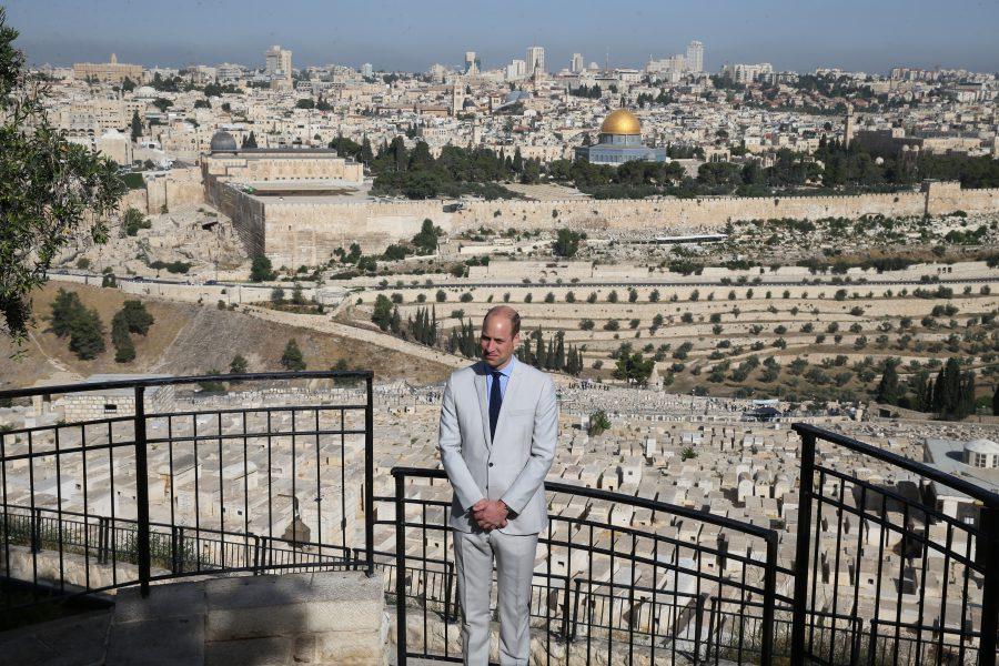 Prins William bezoekt Klaagmuur