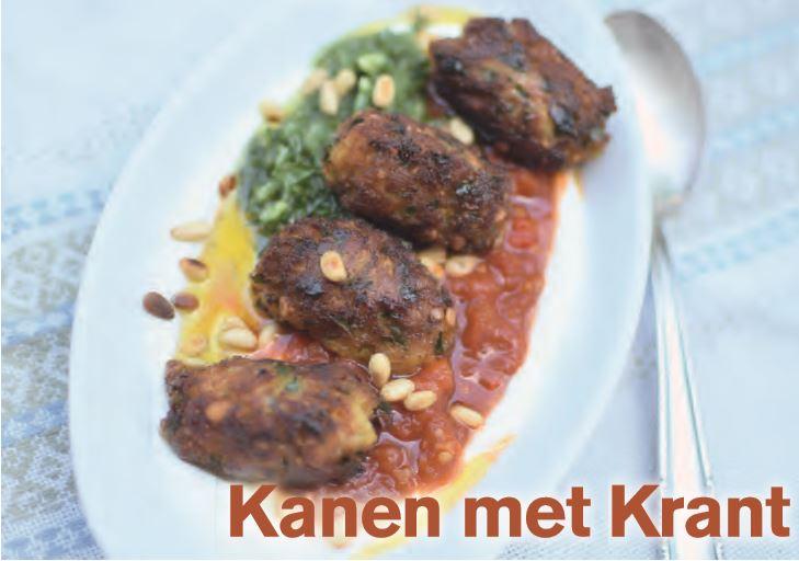 Kanen met Krant: Viskebabs met yoghurt, matboecha en dille-komkommersalsa