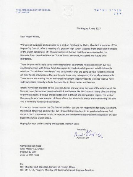 Afschuw over uitspraken Khoulani