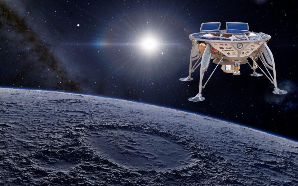 Israëlisch ruimteschip naar de maan