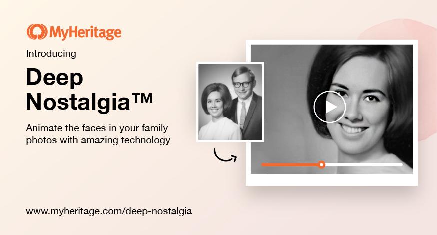 MyHeritage brengt oude foto's tot leven